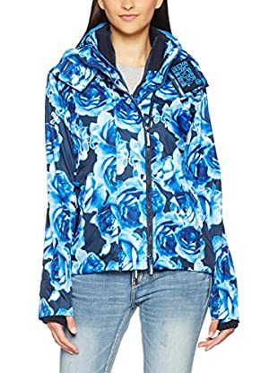 Superdry Windbreaker Black Flower Technical Windche