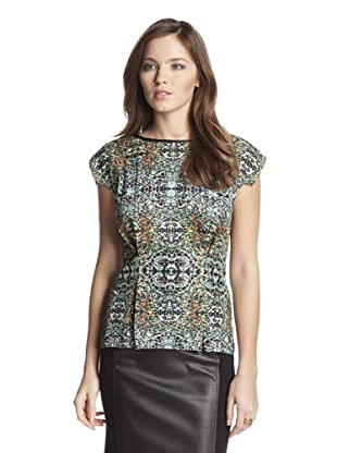 San & Soni Women's Stasia Medallion Print Top (Multi)