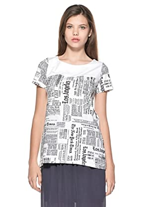 Eccentrica Camiseta Aimee (Blanco Negro)