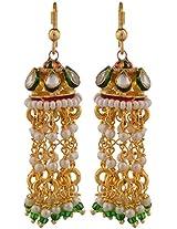 Shop@Cosmos Gold Pearl Jhumki Earrings for Women (Phulkari70)