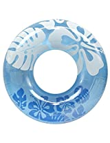 "Enimay 36"" Clear Color Summer Swimming Tube Flower Water Ring Toy Blue"