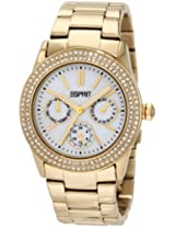 Esprit Peony Water-Resistant Analog White Dial Women's Watch ES103822012