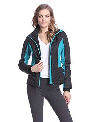 Hawke Women's Quilted Soft Shell Jacket (Black/Teal)