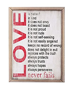 LO+DEMODA Panel Decorativo Love Never Fails