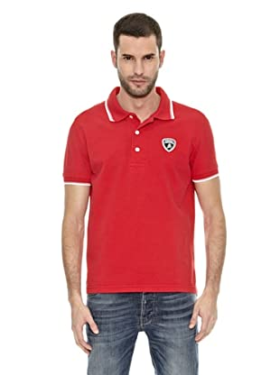 Lamborghini Polo shirt Tip (Rojo / Blanco)