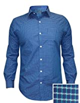 Arrow Blue Casual Check Shirt