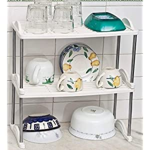 And-Also Andalso 3-Tier Multi Storage Rack For Book Shelf Kitchen Shoe Rack Dishes Radio Home Organizer