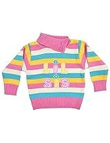 FROLIC Girls' Daffodil Sweater (GF 504 Pink_16)