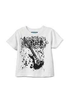 Born 4 Couture Boy's Guitar Short Sleeve T-Shirt (White)