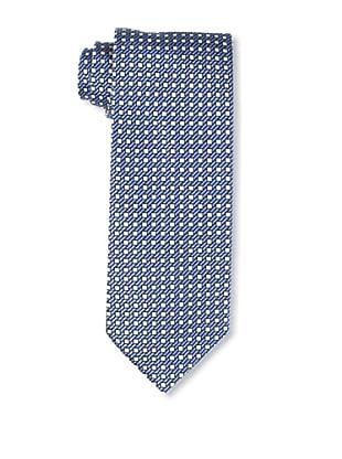 Massimo Bizzocchi Men's Box Tie, Blue/Light Blue