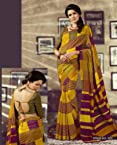 Stylelok Yellow Dhupian Silk Saree SL 7500100