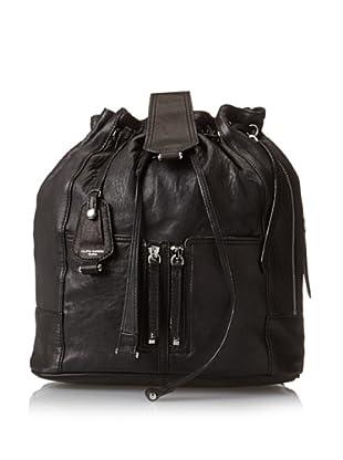 Olivia Harris Women's Drawstring Backpack, Black