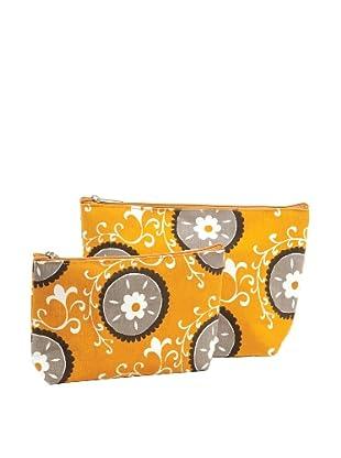 RockFlowerPaper Suzani Pumpkin Zip Bags (Set of 2)