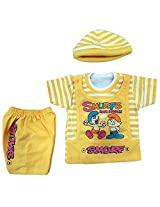 Boogie Woogie Bowo-7640-Y Boy's Cotton Top & Bottom Set - (Yellow)