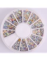 Nails Gaga 2 Wheel 3d Nail Art Tips/ Glitters 3D start Nail decorations