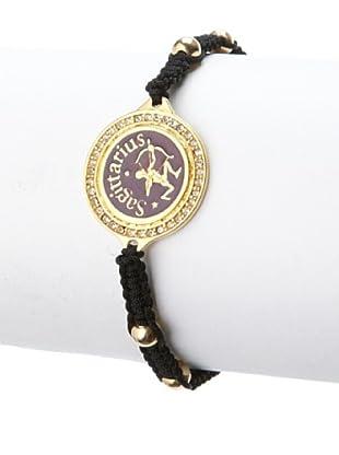 Blee Inara Purple Sagittarius Macrame Bracelet
