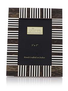 Purva Striped Frame (Wood)
