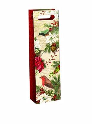 Punch Studio Set of 6 Wine Gift Bags (Merry Birds)