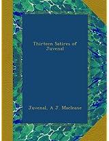 Thirteen Satires of Juvenal