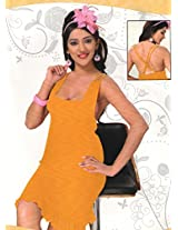 Indiatrendzs Bedroom Wear Dress Women's Sexy Hot Yellow Nighty 2pc Set