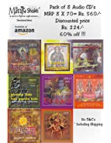 Mantrashakti Music Combo Pack of 8 Devotional audio CD's (Buy 7 get 1 free)