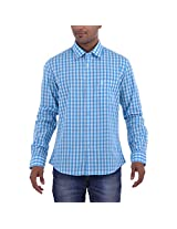 Barrier Reef Men's Slim Fit Shirt(Sky,S)