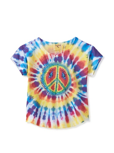 Purple Orchid Girl's Peace Sign Sublimation Top (Multi)