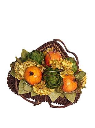 Pomegranate Door Basket (Yellow/Green/Multi)
