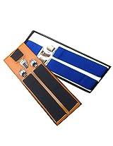 Sunshopping men's royal blue and Dark green seuspender(WSDWSDSC00021) (black & royal blue)