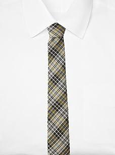 Original Penguin Men's Morton Plaid Tie, One Size (Yellow)