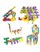 Catterpillar Hot Assembling Water Pipe Plastic Building Blocks Multicolor