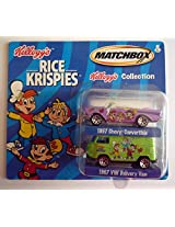 MATCHBOX 2001 KELLOGG'S COLLECTION - Rice Krispies 1957 Chevy Convertible & 1967 VW Delivery Van