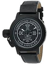 Christian Audigier Unisex ETE-115 Eternity Royal Black Ion-Plating Black Watch