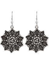 Haat4Art Diamond flower Silver Earrings for Women