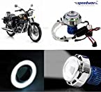 Speedwav LED Projector Light With Angel Eye White-Royal Enfield Twin spark