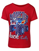 Babyhug Half Sleeves T-Shirt Red - Truck Print