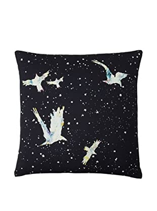Twinkle Living Forget-Me-Not Pillow Cover, Black/Multi, 18