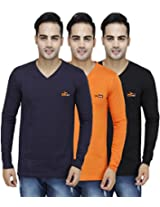 PRO Lapes Cotton V-Neck T-Shirt Pack of 3