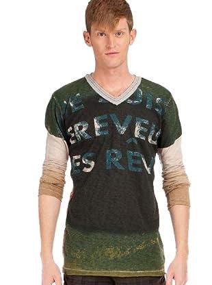 Custo T-Shirt (grün/blau/beige)