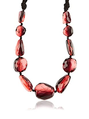 Silvio Tossi Collar - negro/rojo/transparente