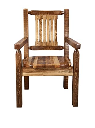 Montana Woodworks Homestead Collection Captain's Chair with Ergonomic Wood Seat (Early American)