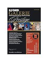 "Ilford 2001759 GPSHG7US Galerie 13 x 19"" Prestige Smooth High Gloss 25 Count Photo Inkjet (Black)"