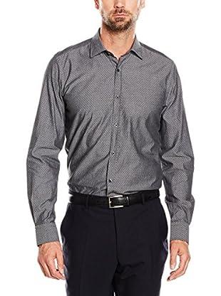 Cortefiel Camisa Hombre Estampada Gris