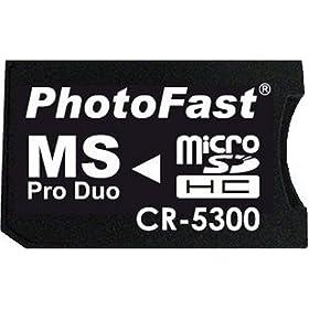 : PhotoFast microSD to MS Pro Duo変換アダプターブリスターパッケージ・microSDHC8GB対応・1ヶ月保証 CR-5300