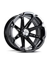 "MotoSport Alloys M12 Diesel Gloss Black ATV Wheel UTV Wheel (14x7""/4x156)"