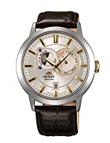 Orient Men white Dial Brown Strap Round Shape (SET0P004W0)