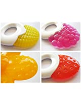 Baby Tooth Gel Silicone Fruit Shaped Tooth Teethers Soothers - For Teething Infant Babies and Newborns