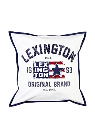 Lexington Company Funda De Cojín Bandera (Blanco)