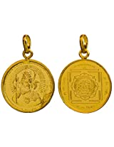 Pendant with Image of Lord Shiva and Maha Mrityunjay Yantra on the Reverse (Two Sided Pendant) - Cop