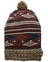 Muk Luks Women's Vintage Jewels Stripe Beanie, Brown, One Size